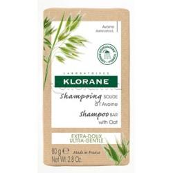 Klorane Shampoo Solido Gusto Avena Tutti i Tipi di Capelli 80g