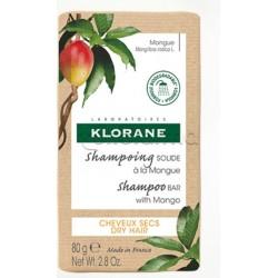 Avene Klorane Shampoo Solido Gusto Mango Capelli Secchi 80g