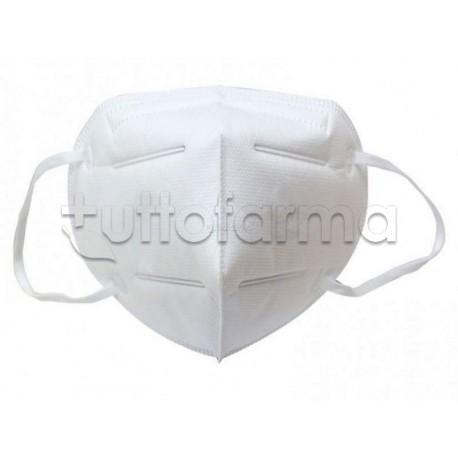 Mascherina Respiratoria Filtrante FFP2 Esze Bianca Certificata CE 1 Pezzo- 50 Centesimi a Mascherina