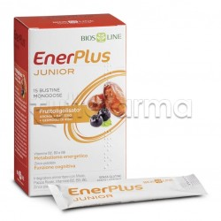 Bios Line Enerplus Junior Integratore Energizzante per Bambini 15 Bustine