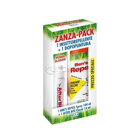 Zanza Pack Cofanetto Estate 1 Repellente per Insetti + 1 Dopo Puntura