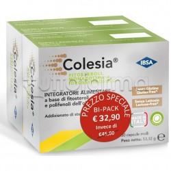 Colesia Integratore per Ridurre Colesterolo Confezione Doppia 30+30 Capsule