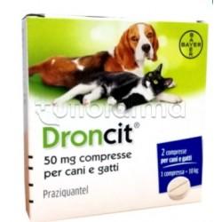 Droncit Farmaco Veterinario Infestazioni Parassitarie di Cani e Gatti 2 Compresse