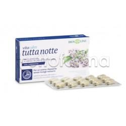 Bios Line Vitacalm Tutta Notte con Melatonina Integratore per Sonno Formato Convenienza 30 Compresse