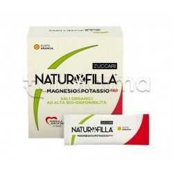 Zuccari Naturofilla Magnesio e Potassio Red Integratore di Sali Minerali Gusto Arancia 14 Stick