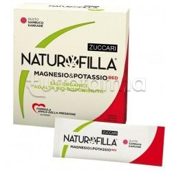 Zuccari Naturofilla Magnesio e Potassio Red Integratore di Sali Minerali Gusto Sambuco Karkadè 14 Stick