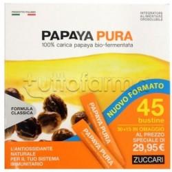 Zuccari Papaya Pura Integratore Antiossidante 30+15 Bustine Omaggio