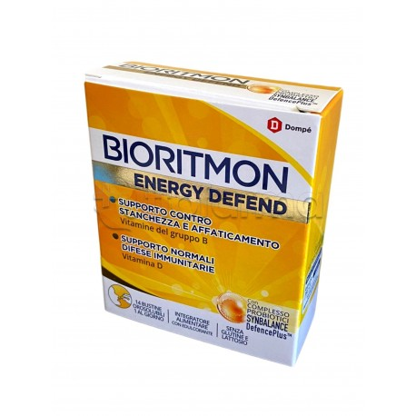 Bioritmon Energy Defend Integratore per Difese Immunitarie 14 Bustine Orosolubili