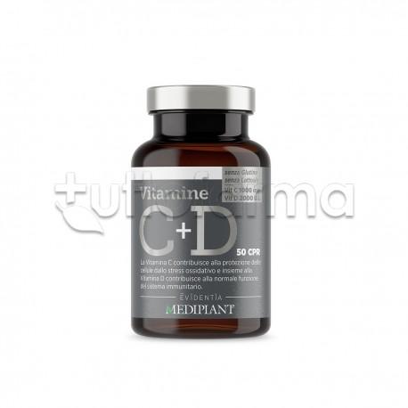 Evidentia Vitamine C+D Integratore Vitaminico 50 Compresse Orosolubili