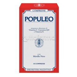 Erboristeria Magentina Populeo Integratore per Emorroidi 40 Compresse
