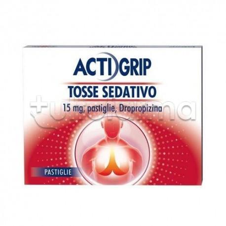 Actigrip Tosse Sedativo per Tosse Secca 24 Pastiglie 15 mg