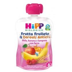 Hipp Biologico Frutta Frullata e Cereali Antichi Mela Banana Lampone con Farro 90g