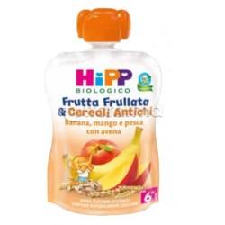 Hipp Biologico Frutta Frullata e Cereali Antichi Banana, Mango e Pesca con Avena 90g