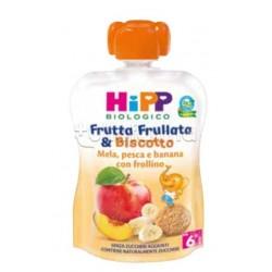 Hipp Biologico Frutta Frullata e Biscotto Mela, Pesca e Banana con Frollino 90g