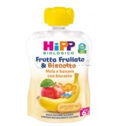Hipp Biologico Frutta Frullata e Biscotto Mela e Banana con Biscotto 90g