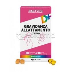 Dailyvit+ Gravidanza Allattamento con DHA Integratore per la Gravidanza e Allattamento 30 Compresse+30 Perle