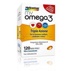 Multicentrum My Omega 3 Integratore con Omega 3 120 Perle