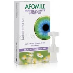 Afomill Rinfrescante Lenitivo Collirio per Occhi Secchi 10 Flaconcini