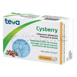Teva Cysberry Integratore per Benessere Vie Urinarie 20 Compresse