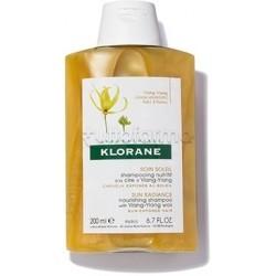 Klorane Trattamento Solare con Cera di Ylang Ylang Shampoo Protettivo