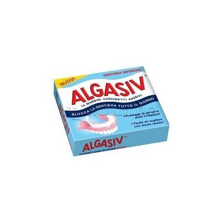 Algasiv Cuscinetti Adesivi per Dentiera Inferiore 15 Pezzi
