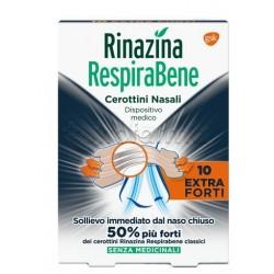 Rinazina RespiraBene Cerotti Nasali Extra Forti per Adulti 10 Pezzi