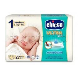 Chicco Pannolino Ultra NewBorn Taglia 1 2-5Kg 27 Pezzi