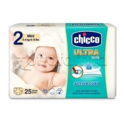 Chicco Pannolino Ultra Mini Taglia 2 3-6Kg 25 Pezzi