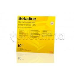 Betadine 10 Garze Impregnate Disinfettanti 10 x10