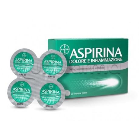 Aspirina Dolore Infiammazione 20 Compresse 500 Mg