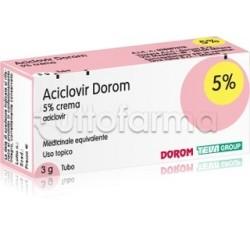 Aciclovir Dorom Crema 3 gr 5% per Herpes