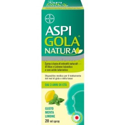 Aspi Gola Natura Spray per la Gola Gusto Menta e Limone 20ml