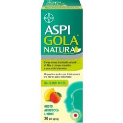 Aspi Gola Natura Spray per la Gola Gusto Albicocca e Limone 20ml