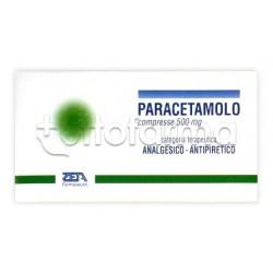 Zeta Paracetamolo 20 Compresse per Influenza e Raffreddore 500mg