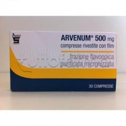 Arvenum 500 30 Compresse Rivestite 500 mg per Gambe Pesanti o Emorroidi