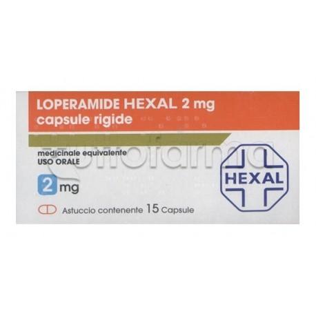 Loperamide Hexal 15 Capsule 2mg Trattamento contro la Diarrea