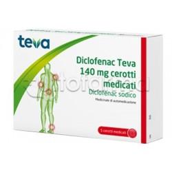 Teva Diclofenac 5 Cerotti Medicati 140mg (Equivalente Voltadol Cerotto)