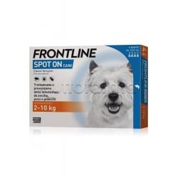 Frontline Spot-on Antiparassitario Veterinario per Cani 2-10Kg 4 Pipette