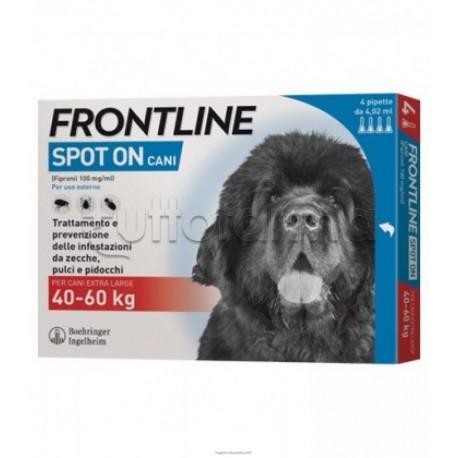 Frontline Spot-On Antiparassitario Veterinario per Cani 40-60Kg 4 Pipette
