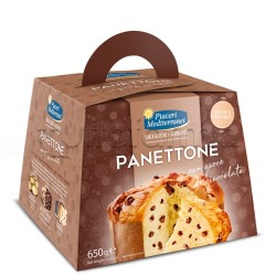 Piaceri Mediterranei Panettone con Gocce di Cioccolato Senza Glutine 650mg