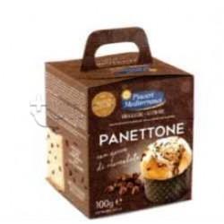 Piaceri Mediterranei Panettone con Gocce di Cioccolato Senza Glutine 100g