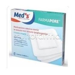 Meds Farma Pore Medicazione Adesiva 10x12cm 5 Pezzi