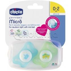 Chicco Physioforma Micrò Ciuccio in Silicone Bimbo 0-2 Mesi 2 Pezzi