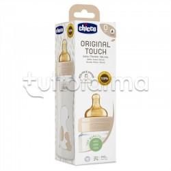 Chicco Original Touch Biberon in Vetro Unisex Bianco Flusso Lento 240ml 1 Pezzo