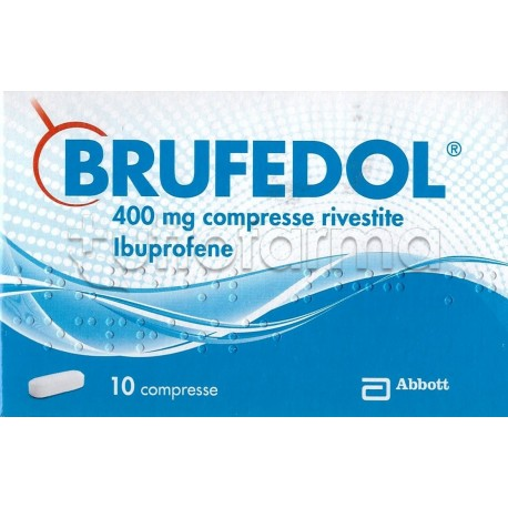 Brufedol 10 compresse 400 mg antinfiammatorio ed for Farmaci per mal di orecchio