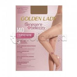Golden Lady Collant a Compressione Graduata Forte 140 Denari Velato Dorè Naturel L