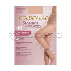 Golden Lady Collant a Compressione Graduata Forte 140 Denari Velato Playa M