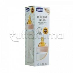 Chicco Original Touch Biberon Tettarella in Caucciù Unisex Bianco Flusso Regolabile 330ml 1 Pezzo