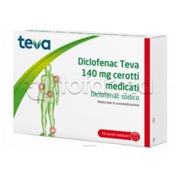 Teva Dicoflenac 10 Cerotti Medicati 140mg (Equivalente Voltadol Cerotto)