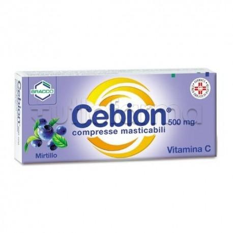 Cebion 500 mg 20 Compresse Masticabili Mirtillo Vitamina C
